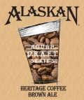 Alaskan Heritage Coffee Brown Ale - Brown Ale