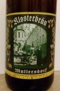 Klosterbr�u Mallersdorf Zoigl