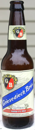Griesedick Brothers Unfiltered Bavarian-Style Wheat - German Hefeweizen