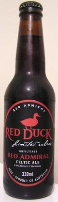 Red Duck Limited Release Red Admiral Celtic Ale