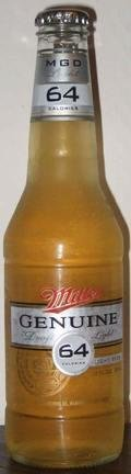 Miller Genuine Draft Light 64 (MGD Light 64) - Pale Lager