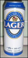 Tesco Imported Lager - Pale Lager