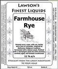 Lawson�s Finest Farmhouse Rye - Belgian Strong Ale