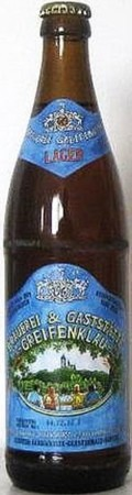Greifenklau Lager Bier - Dortmunder/Helles