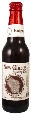 New Glarus Unplugged Enigma 5.5% (2010) - Sour Red/Brown