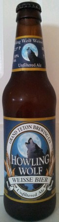 Grand Teton Howling Wolf Weisse Bier - German Hefeweizen