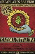 Great Lakes Brewing Karma Citra (single hop)  - India Pale Ale (IPA)