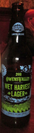 Mammoth Owens Valley Wet Harvest Lager &#40;2011&#41; - Strong Pale Lager/Imperial Pils