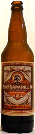Phillips Old Sarsaparilla Root Beer Style Ale - Spice/Herb/Vegetable