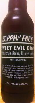 Hoppin Frog Sweet Evil BBW Belgian-style Barley Wine-style Ale - Barley Wine