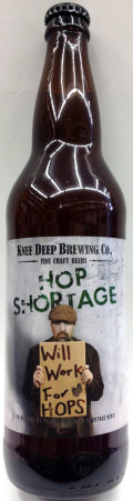 Knee Deep Hop Shortage Triple IPA - Imperial/Double IPA