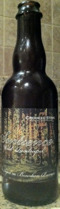 Crooked Stave Sentience (Bourbon Barrel) - Abt/Quadrupel