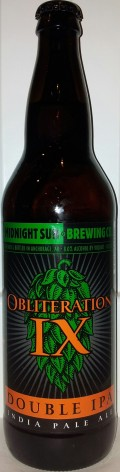 Midnight Sun Obliteration IX - Imperial/Double IPA
