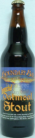 Boundary Bay Imperial Oatmeal Stout - Imperial Stout