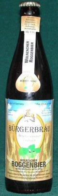 Brgerbru Wolnzacher Roggenbier - Specialty Grain