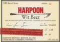 Harpoon 100 Barrel Series #02 - Wit Beer - Belgian White (Witbier)