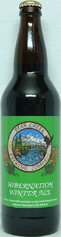 Bear Creek Hibernation Winter Ale - Spice/Herb/Vegetable