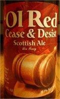 Erie Brewing Ol Red Cease & Desist Scottish Ale - Scotch Ale
