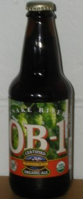 Snake River Organic Beer One (OB-1) - Brown Ale