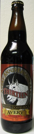 Avery Anniversary Thirteen - Weizen Bock