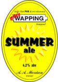 Wapping Summer Ale - Golden Ale/Blond Ale
