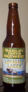 Barley Days Loyalist Lager - Pale Lager