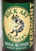 Rock Art Ridge Runner Ale - Barley Wine