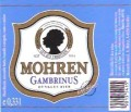 Mohren Gambrinus - Dunkel/Tmav