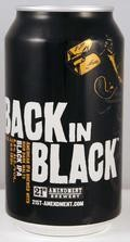21st Amendment Back in Black - Black IPA