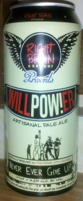 Right Brain Will Power Pale Ale