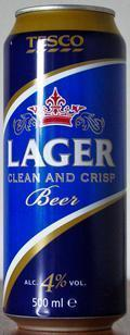 Tesco Lager (Clean and Crisp) Beer