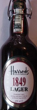 Harrods 1849 Lager