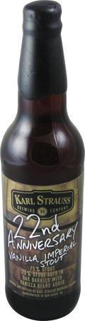 Karl Strauss 22nd Anniversary Vanilla Imperial Stout