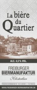 Freiburger Biermanufaktur Bi�re du Quartier