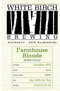 White Birch Farmhouse Blonde - Saison