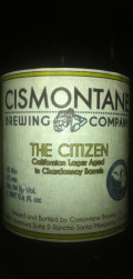 Cismontane Chardonnay Barrel Aged The Citizen