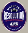 Marstons Resolution / Low C - Pale Lager