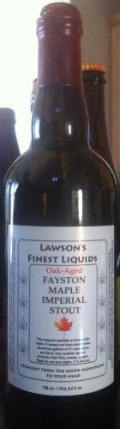 Lawson�s Finest Fayston Maple Imperial Stout - Oak Aged - Imperial Stout