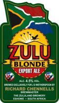 Caledonian / Zululand Zulu Blonde Export Ale