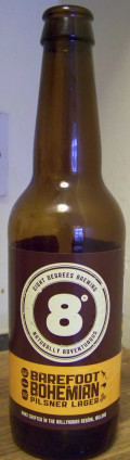 Eight Degrees Barefoot Bohemian Pilsner Lager