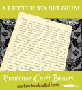 Ramsbottom A Letter To Belgium