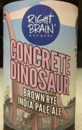 Right Brain Concrete Dinosaur Brown Rye IPA
