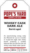 Pope�s Yard Whisky Cask Dark Ale - English Strong Ale