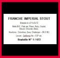 La Franche Imperial Stout
