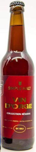 Simple Malt Vin d�Orge R�serve