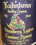 Kuhnhenn Strawberry Lychee Traminer Pyment - Mead