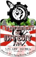 Hopcraft Statement of Intent - India Pale Ale (IPA)