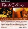 Sainsbury�s Munich Style Festival Lager