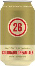 Station 26 Colorado Cream Ale