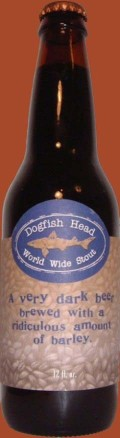 Dogfish Head World Wide Stout 2003 (21%, CA and UK release) - Imperial Stout